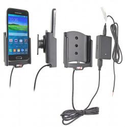 Support voiture  Brodit Samsung Galaxy S5 Mini SM-G800F  installation fixe - Avec rotule, connectique Molex. Chargeur 2A. Réf 513649