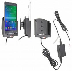 Support voiture  Brodit Samsung Galaxy Alpha  installation fixe - Avec rotule, connectique Molex. Chargeur 2A. Réf 513658
