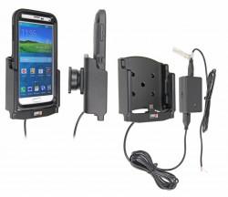 Support voiture  Brodit Samsung Galaxy S5  installation fixe - Avec rotule, connectique Molex. Chargeur 2A. Pour  étui Otterbox Defender (non livré). Réf 513678