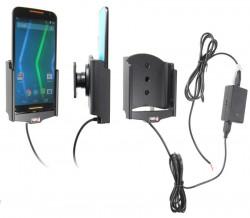 Support voiture  Brodit Motorola Moto X (2nd Gen)  installation fixe - Avec système de connecteur Molex. Chargeur 2A. Avec rotule. Réf 513679
