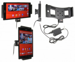 Support voiture  Brodit Sony Xperia Z3 Tablet Compact  installation fixe - Avec rotule, connectique Molex. Réf 513692