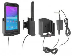 Support voiture Brodit Samsung Galaxy Note 4 installation fixe - Avec rotule, connectique Molex. Chargeur 2A. UNIQUEMENT pour étui Otterbox Defender (non livré). Réf 513694
