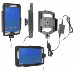 Support voiture  Brodit Samsung Galaxy Tab 4 7.0 SM-T230  installation fixe - Avec rotule, connectique Molex. Pour appareil avec  étui Otterbox Defender (non livré) étui. Réf 513703