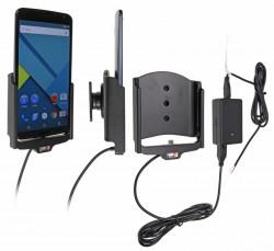 Support voiture Brodit Nexus 6 installation fixe - Avec système de connecteur Molex. Chargeur 2A. Avec rotule. Réf 513704