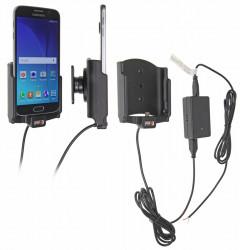 Support voiture  Brodit Samsung Galaxy S6  installation fixe - Avec rotule, connectique Molex. Chargeur 2A. Réf 513723