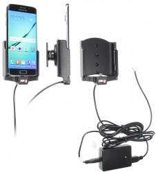 Support voiture  Brodit Samsung Galaxy S6 edge  installation fixe - Avec système de connecteur Molex. Chargeur 2A. Avec rotule. Réf 513731