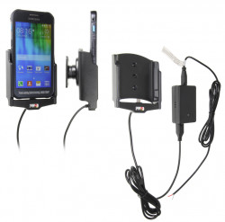 Support voiture  Brodit Samsung Galaxy Xcover 3  installation fixe - Avec rotule, connectique Molex. Chargeur 2A. Réf 513736