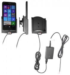 Support voiture  Brodit Microsoft Lumia 640  installation fixe - Avec rotule, connectique Molex. Chargeur 2A. Réf 513746
