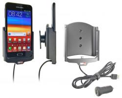 Support voiture  Brodit Samsung Galaxy Note GT-N7000  avec chargeur allume cigare - Avec rotule. Avec câble USB. Réf 521303