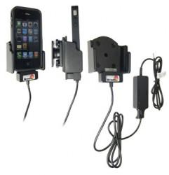 Support voiture  Brodit Apple iPhone 4  installation fixe - Avec rotule. Fixation réglable, adapte les appareils avec étui. Chargeur approuvé par Apple. Réf 527165