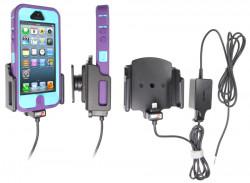 Support voiture Brodit Apple iPhone 5 installation fixe - Avec rotule. Support réglable. Pour appareil avec étui de dimensions: Larg: 62-77 mm, épaiss.: 6-10 mm. Chargeur approuvé par Apple. Réf 527504