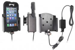 Support voiture Brodit Apple iPhone 5 installation fixe - Avec rotule. Chargeur approuvé par Apple. Pour étui Griffin Survivor All-Terrain. Réf 527512