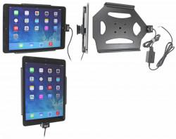 Support voiture  Brodit Apple iPad Air  installation fixe - Avec rotule. Chargeur approuvé par Apple. Réf 527577
