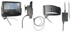 Support voiture  Brodit Navigon 40 Plus  installation fixe - Avec rotule. Grâce à la connectivité TMC, antenne TMC inclus. 12/24 Volt. Réf 529225