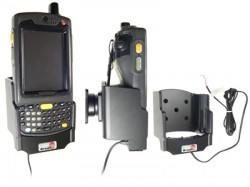 Support voiture  Brodit Motorola MC70  installation fixe - Avec rotule, avec chargeur intégré dans le support. Pour appareil avec batterie standard et étendu. Réf 532044