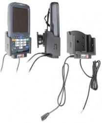 Support voiture  Brodit Intermec CN50  installation fixe - Avec rotule. Conception mince avec chargeur intégré dans le support et avec USB On-The-Go connectivité. Réf 532146