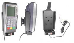 Support voiture  Brodit VeriFone VX 680  installation fixe - Avec rotule. Conception mince avec chargeur intégré dans le support. Réf 532304