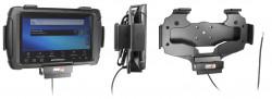 Support voiture  Brodit Motorola ET1  installation fixe - Conception mince avec chargeur intégré dans le support. Convient unité à la fois avec et sans dragonne. Réf 532355