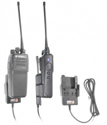 Support voiture  Brodit Motorola DP2000 Series  installation fixe - Conception mince avec chargeur intégré dans le support. Pour une utilisation avec des batteries Li-ion ou Li-Poly. Réf 532493