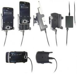 Support voiture  Brodit Nokia N96  installation fixe - Avec rotule, connectique Molex. Chargeur 2A. Réf 971256