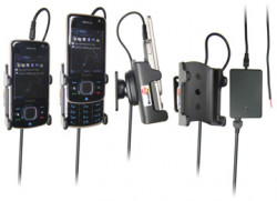 Support voiture  Brodit Nokia 6210 Navigator  installation fixe - Avec rotule, connectique Molex. Chargeur 2A. Réf 971259