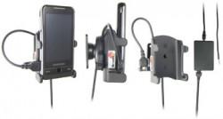 Support voiture  Brodit Samsung Omnia  installation fixe - Avec rotule, connectique Molex. Chargeur 2A. Réf 971264