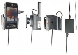 Support voiture  Brodit Samsung SGH-F480  installation fixe - Avec rotule, connectique Molex. Chargeur 2A. Réf 971265