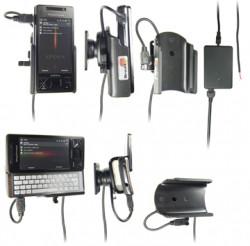 Support voiture  Brodit Sony Ericsson Xperia X1  installation fixe - Avec rotule, connectique Molex. Chargeur 2A. Réf 971266