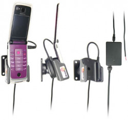 Support voiture  Brodit Nokia 6600 Fold  installation fixe - Avec rotule, connectique Molex. Chargeur 2A. Réf 971269