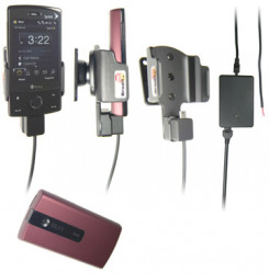Support voiture  Brodit HTC Touch Diamond P3702  installation fixe - Avec rotule, connectique Molex. Chargeur 2A. Réf 971862