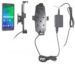 Support voiture  Brodit Samsung Galaxy Alpha  installation fixe - Avec rotule, connectique Molex. Chargeur 2A. Convient appareils avec étui. Réf 513659