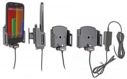 Chargeur 2A. Support réglable. Convient appareils avec et sans étui de dimensions: Larg: 62-77 mm, épaiss.: 12-16 mm. Réf 527620