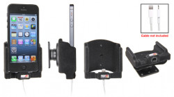Support voiture Brodit Apple iPhone 5 pour fixation cable - Utilisation avec câble Apple Lightning d'origine Avec rotule. Surface