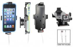 Support voiture Brodit Apple iPhone 5 pour fixation cable - Utilisation avec câble Apple Lightning d'origine Pour appareil avec étui. Avec rotule. Réf 514423