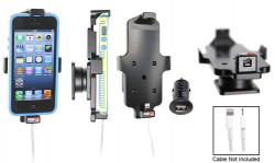 Support voiture  Brodit Apple iPhone 5  pour fixation cable - Utilisation avec câble Apple Lightning d'origine Pour appareil avec étui. Avec rotule. Adaptateur voiture/USB Griffin inclu Réf 514426