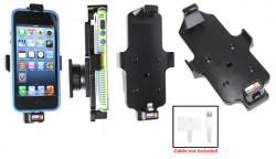 Support voiture Brodit Apple iPhone 5 pour fixation cable - Pour une utilisation avec Apple foudre originale câble adaptateur 30 broches. Pour appareil avec étui. Avec rotule. Réf 514434
