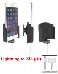Support voiture Brodit Apple iPhone 6 Plus pour fixation cable - Pour une utilisation avec Apple foudre originale câble adaptateur 30 broches. Avec rotule. Surface &quot