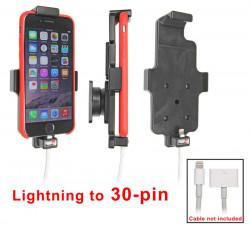 Support voiture Apple iPhone 6/6S/7 pour fixation cable - Pour une utilisation avec Apple foudre originale à l'adaptateur 30 broches. Compatible avec un étui de dimensions: Hauteur: 137-144 mm, Larg: 75 mm, épaiss.: 2-11 mm. Réf 515662