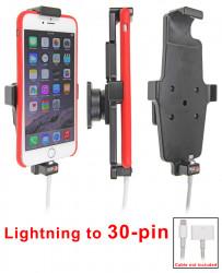 Support voiture  Brodit Apple iPhone 6 Plus  pour fixation cable - Pour une utilisation avec Apple foudre originale câble adaptateur 30 broches. Pour appareil avec étui. Avec rotule. Réf 515663