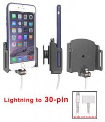 Support voiture  Brodit Apple iPhone 6 Plus  pour fixation cable - Utilisation avec câble Apple Lightning vers 30 broches Support réglable. Pour appareil avec étui de dimensions: Larg: 62-77 mm, épaiss.: 2-10 mm. Réf 515667