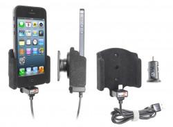 Support voiture Brodit Apple iPhone 5 avec chargeur allume cigare - Avec rotule. Avec câble USB. Chargeur approuvé par Apple. Surface