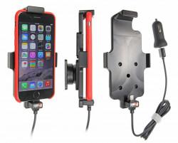 Support voiture Apple iPhone 6/6S/7/8 avec chargeur allume cigare. Avec câble USB. Compatible étui de dimensions: Hauteur: 137-144 mm, Larg: 75 mm, épaiss.: 2-11 mm. Réf 521662