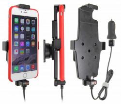 Support voiture Apple iPhone 6Plus/6SPlus/7Plus/8Plus avec chargeur allume cigare. Avec câble USB. Pour appareil avec étui. Réf 521663