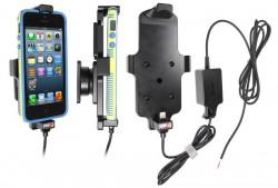 Support voiture  Brodit Apple iPhone 5  installation fixe - Avec rotule. Pour appareil avec étui. Chargeur approuvé par Apple. Réf 527500