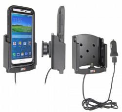 Support voiture  Brodit Samsung Galaxy S5  avec chargeur allume cigare - Avec rotule et le câble USB. Pour  étui Otterbox Defender (non livré). Réf 521678