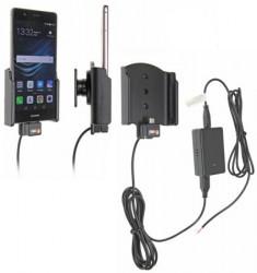 Support voiture Brodit Huawei P9 / Honor 8 installation fixe - Avec rotule, connectique Molex. Chargeur 2A. Réf 513884