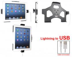 Support voiture  Brodit Apple iPad New 4th Gen  pour fixation cable - Utilisation avec câble Apple Lightning d'origine Avec rotule. Réf 514451