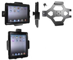 Support voiture  Brodit Apple iPad 2  antivol - Support passif avec rotule. 2 clefs. Pour  étui Otterbox Defender (non livré). Réf 539366