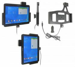 Support voiture  Brodit Samsung Galaxy Tab 4 10.1 SM-T530  sécurisé - Support actif avec un câble USB et un rotule. Avec verrouillage renforcé Réf 546632