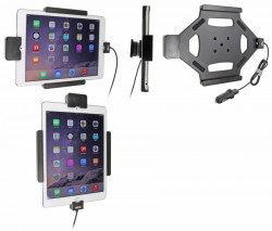Support voiture Brodit Apple iPad Air 2 sécurisé - Support actif avec allume-cigare. Avec rotule. Avec verrouillage renforcé Réf 546684